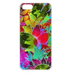 Floral Abstract 1 Apple Iphone 5 Seamless Case (white) by MedusArt
