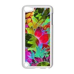 Floral Abstract 1 Apple Ipod Touch 5 Case (white) by MedusArt