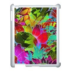 Floral Abstract 1 Apple Ipad 3/4 Case (white) by MedusArt