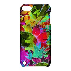 Floral Abstract 1 Apple Ipod Touch 5 Hardshell Case With Stand by MedusArt