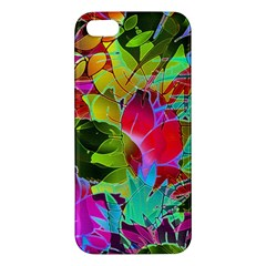 Floral Abstract 1 Iphone 5 Premium Hardshell Case by MedusArt