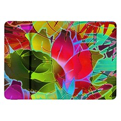 Floral Abstract 1 Samsung Galaxy Tab 8 9  P7300 Flip Case by MedusArt