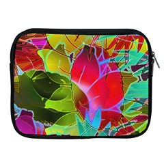 Floral Abstract 1 Apple Ipad Zippered Sleeve by MedusArt