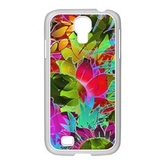 Floral Abstract 1 Samsung Galaxy S4 I9500/ I9505 Case (white) by MedusArt
