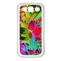 Floral Abstract 1 Samsung Galaxy S3 Back Case (white) by MedusArt
