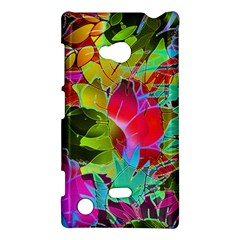 Floral Abstract 1 Nokia Lumia 720 Hardshell Case by MedusArt