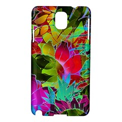 Floral Abstract 1 Samsung Galaxy Note 3 N9005 Hardshell Case by MedusArt