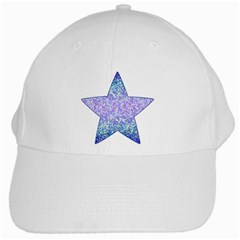 Glitter2 White Baseball Cap by MedusArt