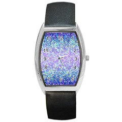 Glitter2 Tonneau Leather Watch by MedusArt