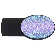 Glitter2 4gb Usb Flash Drive (oval) by MedusArt