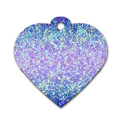 Glitter2 Dog Tag Heart (one Sided)  by MedusArt
