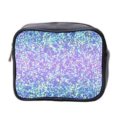 Glitter2 Mini Travel Toiletry Bag (two Sides) by MedusArt