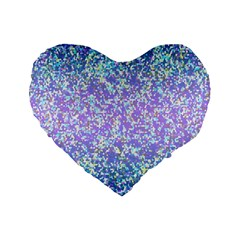 Glitter2 16  Premium Heart Shape Cushion  by MedusArt