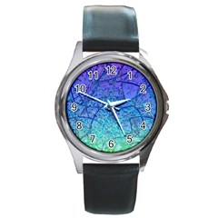 Grunge Art Abstract G57 Round Metal Watch by MedusArt