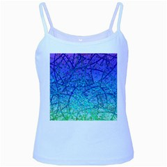 Grunge Art Abstract G57 Baby Blue Spaghetti Tank by MedusArt