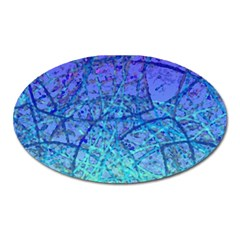 Grunge Art Abstract G57 Magnet (oval) by MedusArt