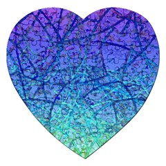 Grunge Art Abstract G57 Jigsaw Puzzle (heart) by MedusArt