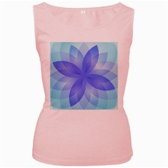 Abstract Lotus Flower 1 Women s Tank Top (pink) by MedusArt
