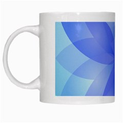 Abstract Lotus Flower 1 White Coffee Mug by MedusArt