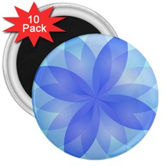 Abstract Lotus Flower 1 3  Button Magnet (10 Pack) by MedusArt