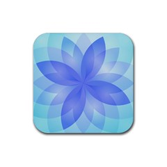 Abstract Lotus Flower 1 Drink Coaster (square) by MedusArt