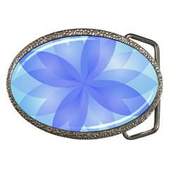 Abstract Lotus Flower 1 Belt Buckle (oval) by MedusArt