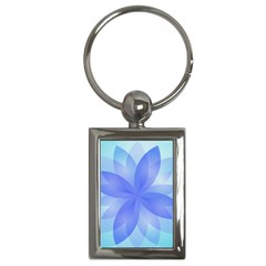 Abstract Lotus Flower 1 Key Chain (rectangle) by MedusArt