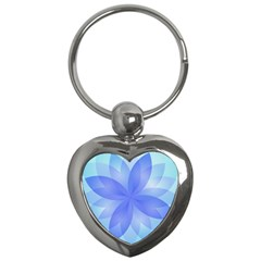 Abstract Lotus Flower 1 Key Chain (heart) by MedusArt