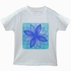Abstract Lotus Flower 1 Kids T Shirt (white)