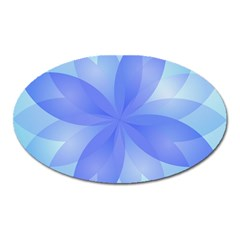 Abstract Lotus Flower 1 Magnet (oval) by MedusArt