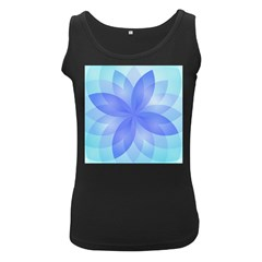 Abstract Lotus Flower 1 Women s Tank Top (black) by MedusArt