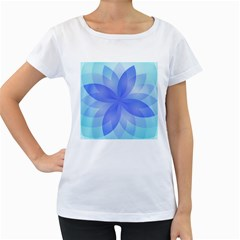 Abstract Lotus Flower 1 Women s Maternity T Shirt (white) by MedusArt