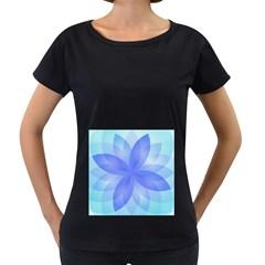 Abstract Lotus Flower 1 Women s Maternity T Shirt (black) by MedusArt