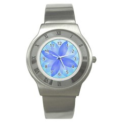 Abstract Lotus Flower 1 Stainless Steel Watch (slim) by MedusArt