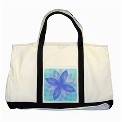 Abstract Lotus Flower 1 Two Toned Tote Bag by MedusArt