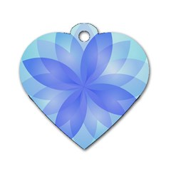 Abstract Lotus Flower 1 Dog Tag Heart (one Sided)  by MedusArt