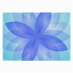 Abstract Lotus Flower 1 Glasses Cloth (large) by MedusArt