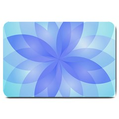 Abstract Lotus Flower 1 Large Door Mat by MedusArt