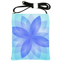 Abstract Lotus Flower 1 Shoulder Sling Bag by MedusArt