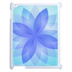 Abstract Lotus Flower 1 Apple Ipad 2 Case (white) by MedusArt