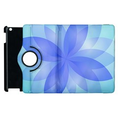 Abstract Lotus Flower 1 Apple Ipad 3/4 Flip 360 Case by MedusArt