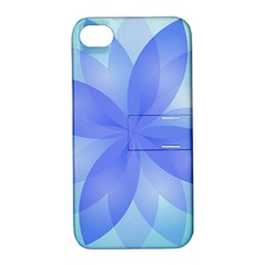 Abstract Lotus Flower 1 Apple Iphone 4/4s Hardshell Case With Stand by MedusArt