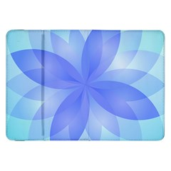 Abstract Lotus Flower 1 Samsung Galaxy Tab 8 9  P7300 Flip Case by MedusArt