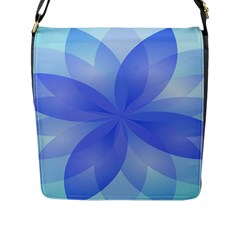 Abstract Lotus Flower 1 Flap Closure Messenger Bag (large) by MedusArt