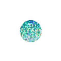 Mosaic Sparkley 1 1  Mini Button Magnet by MedusArt