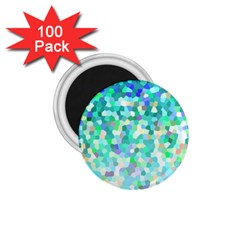 Mosaic Sparkley 1 1 75  Button Magnet (100 Pack) by MedusArt