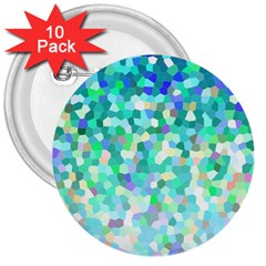 Mosaic Sparkley 1 3  Button (10 Pack) by MedusArt