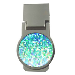 Mosaic Sparkley 1 Money Clip (round) by MedusArt