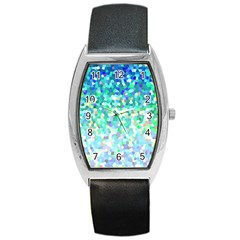 Mosaic Sparkley 1 Tonneau Leather Watch by MedusArt