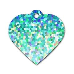 Mosaic Sparkley 1 Dog Tag Heart (one Sided)  by MedusArt